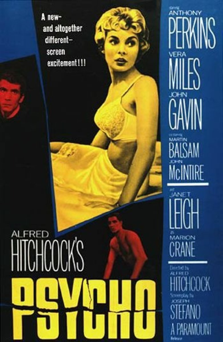 Psycho (1960) Directed by: Alfred Hitchcock Starring: Anthony Perkins, Janet Leigh, Vera Miles, John Gavin