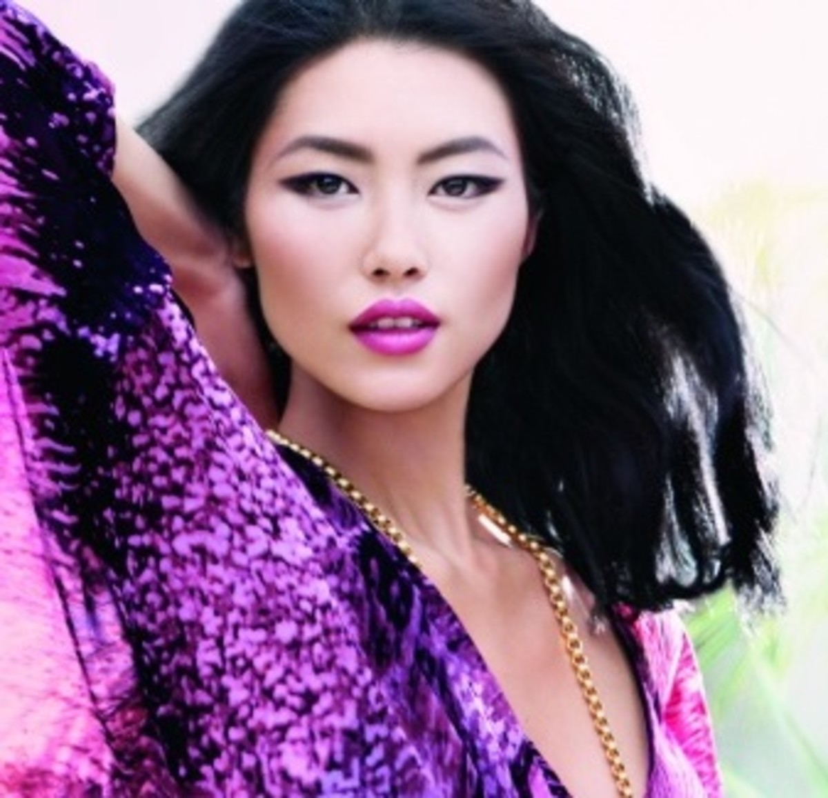 Purple lipsticks are a traditional favorite for Asian skin.