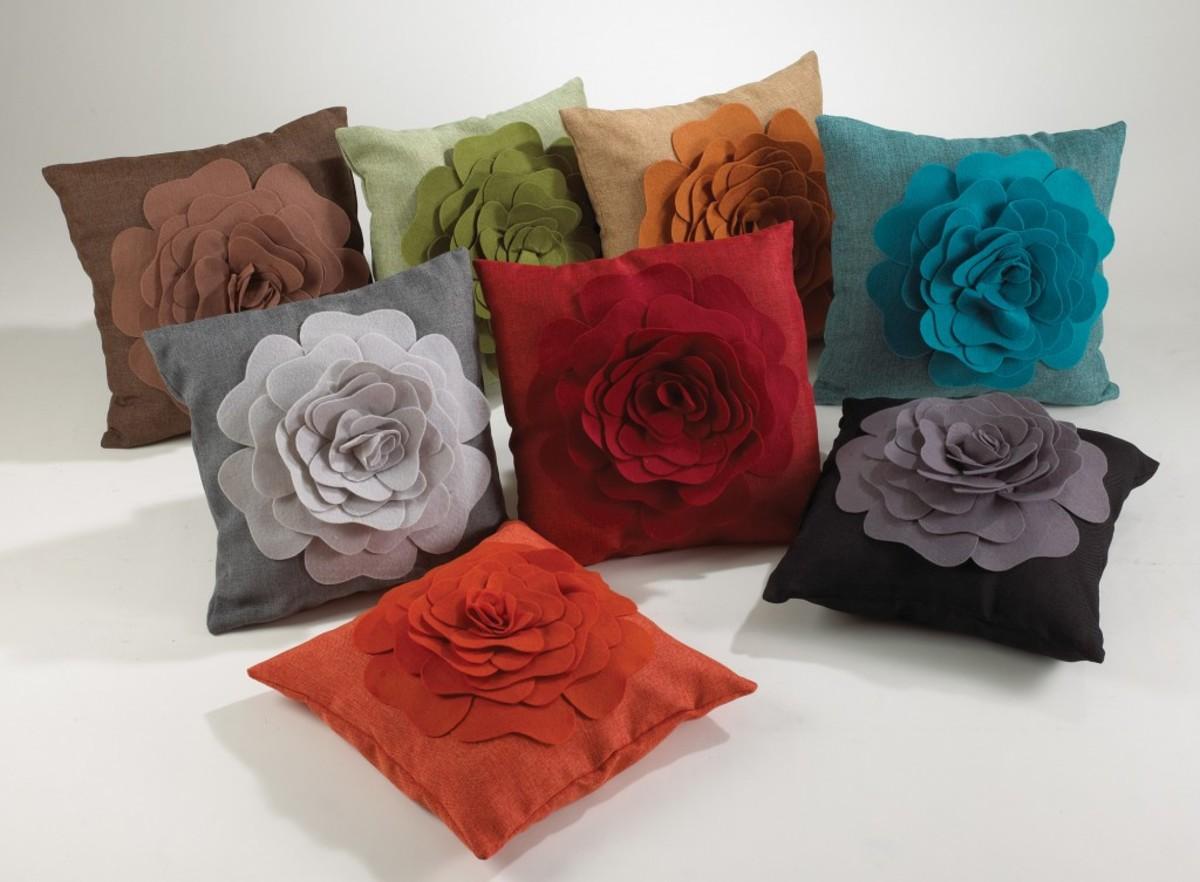 Silk Rose Decorative Pillows