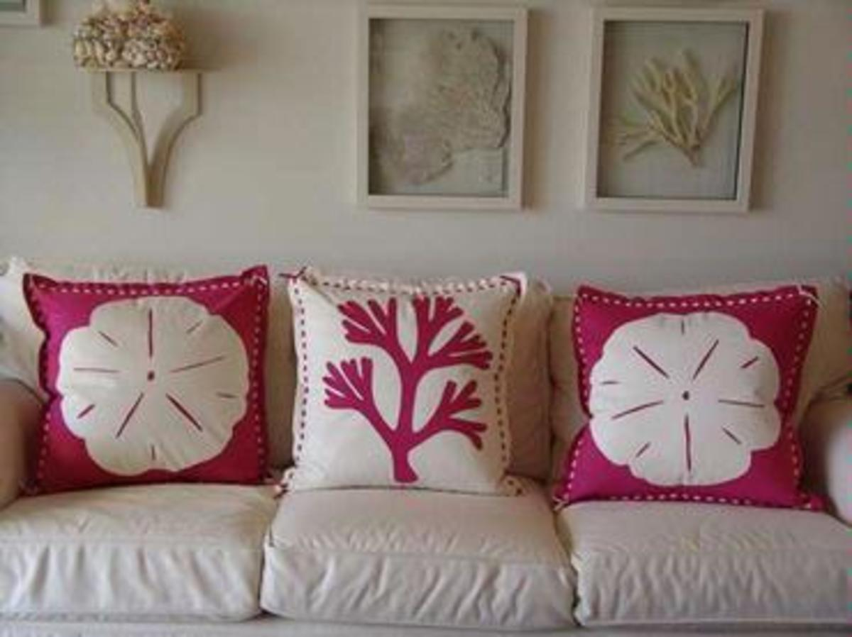 Add color with decorative pillows.