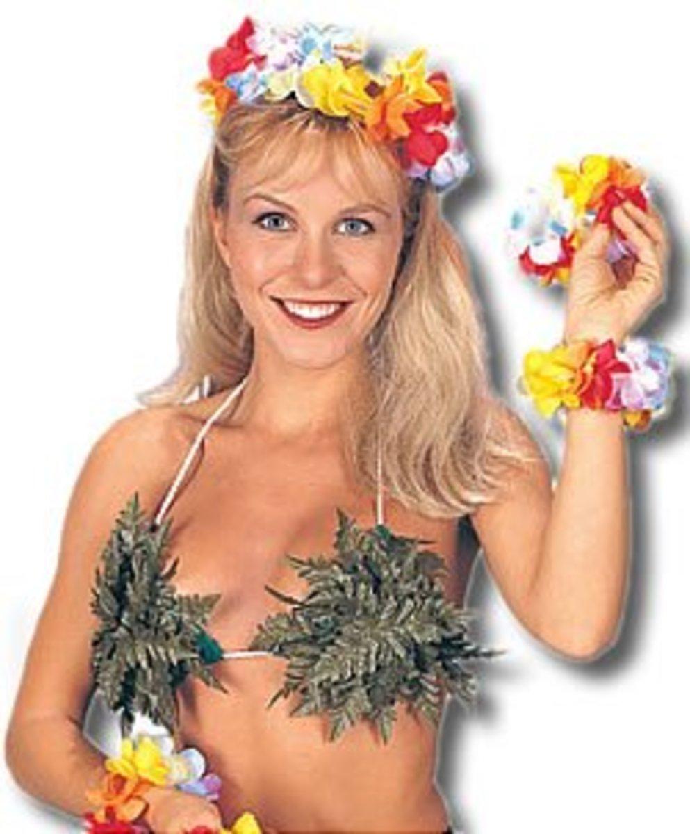 Casually hawaii sexy woman