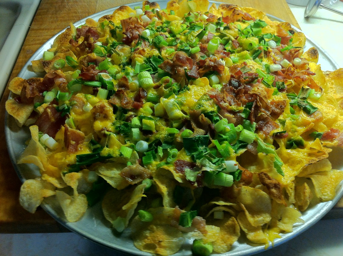 Irish Nachos-Cheesy and loaded with bacon