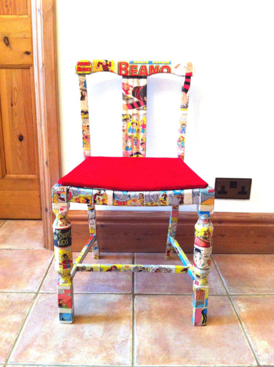 Comic book covered chair