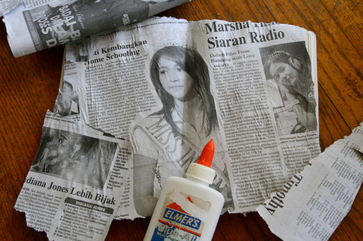 http://www.flickr.com/photos/puuikibeach/3737683051/ - link no longer active. Instead of cutting newspaper for smaller gifts, simply tear it. The torn edges will add character to the wrapping job.