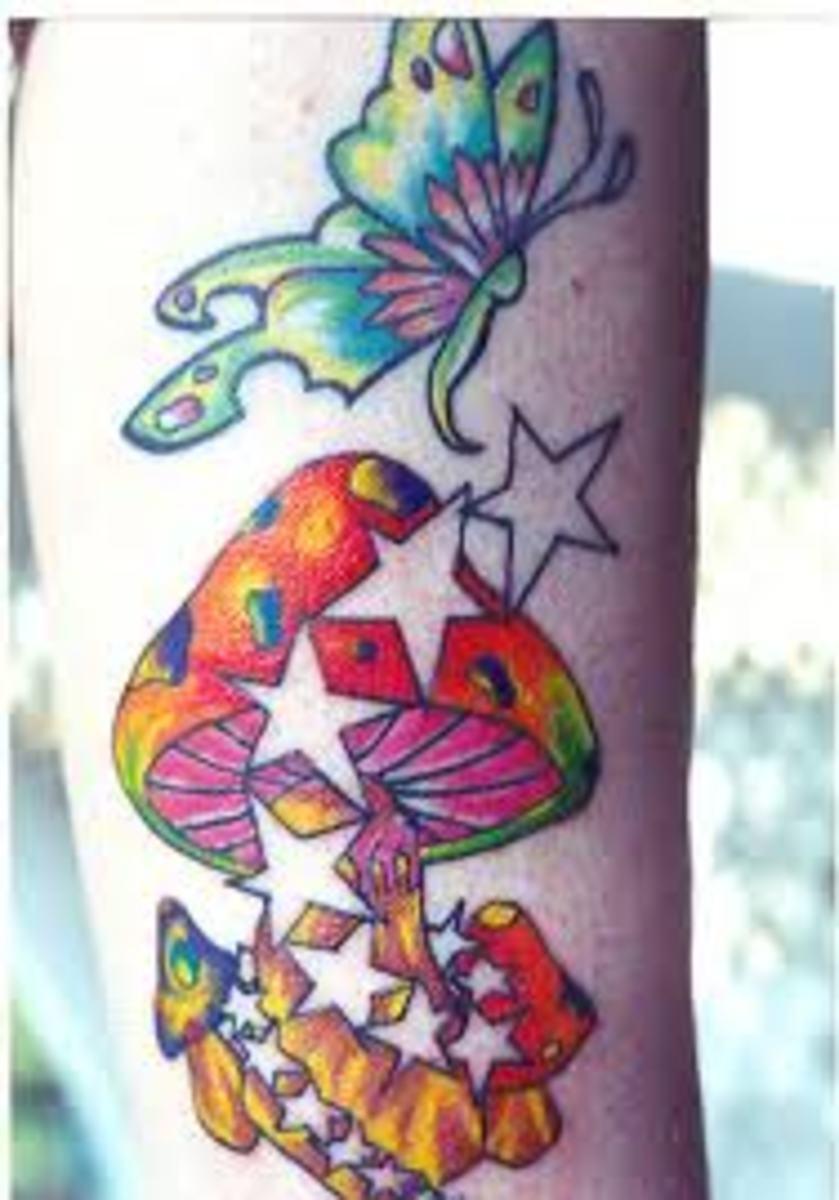 Mushroom Tattoos And Designs-Mushroom Tattoo Meanings And Ideas-Mushroom Tattoo Gallery