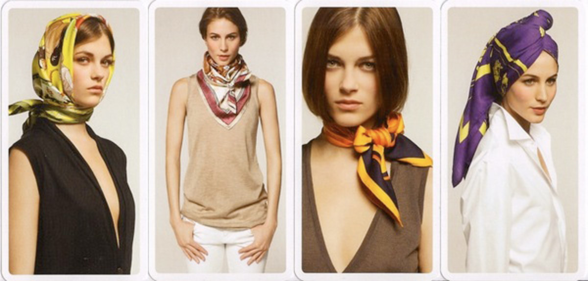 Four simple ways to wear a scarf