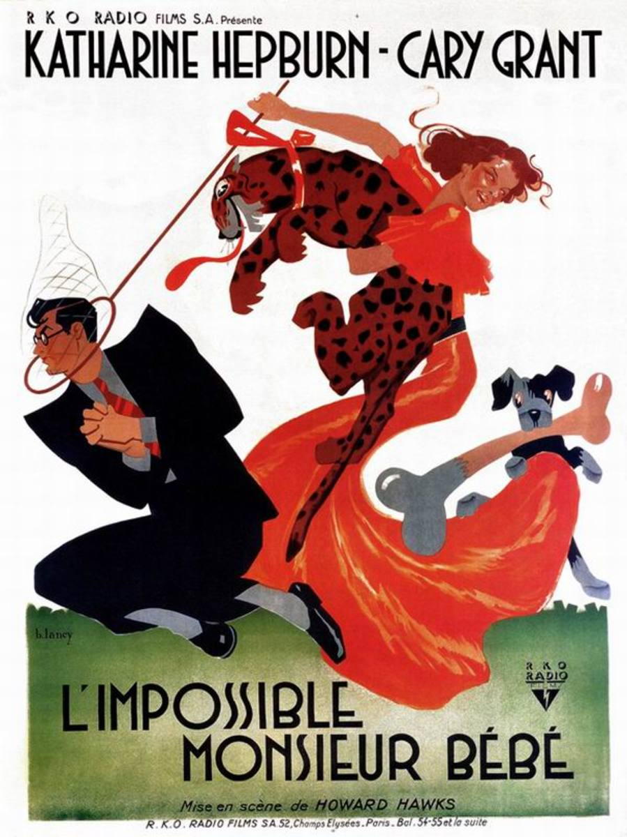 Bringing Up Baby (1938) French poster