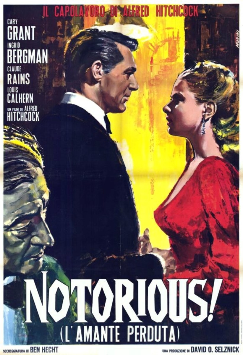 Notorious (1946) Italian poster