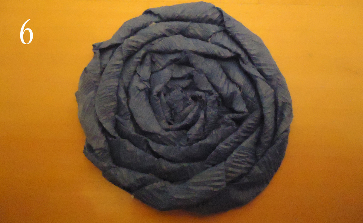 You have a beautiful crepe paper cabbage roll flower