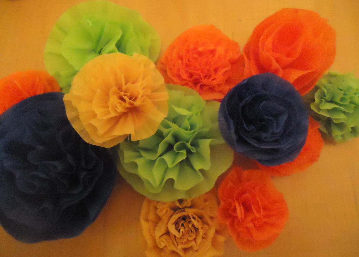 crepe paper carnations