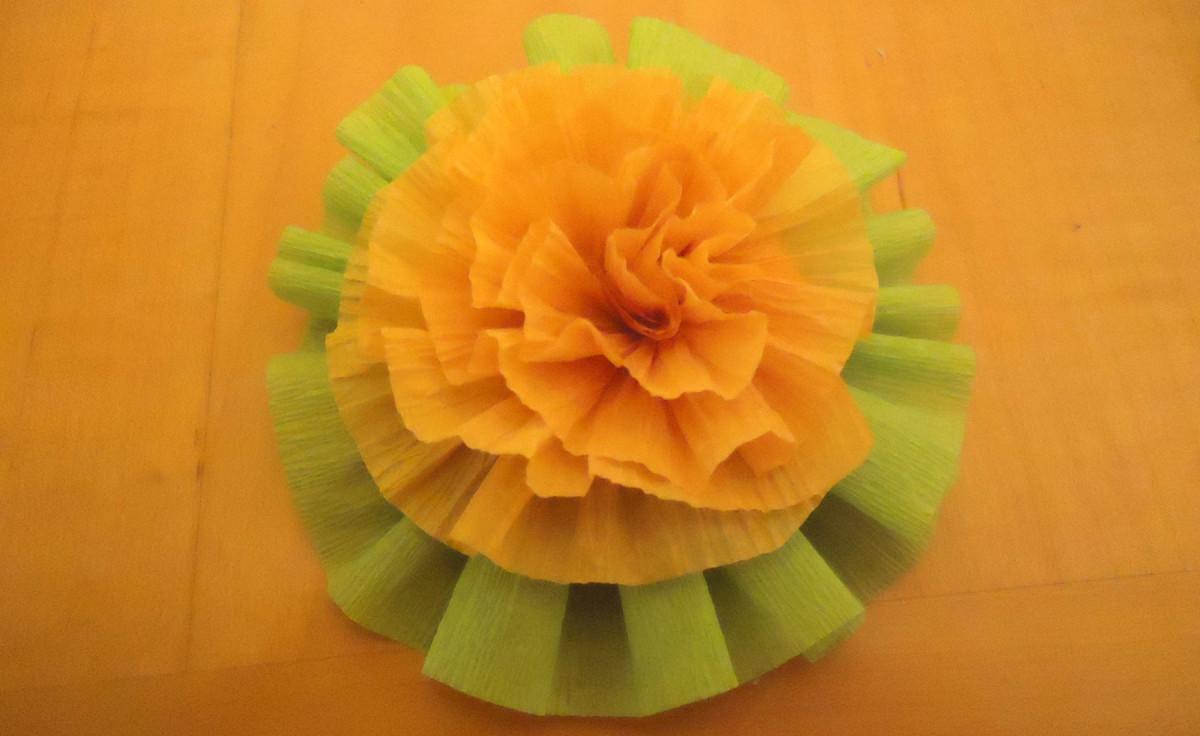 carnation embellishing a rosette