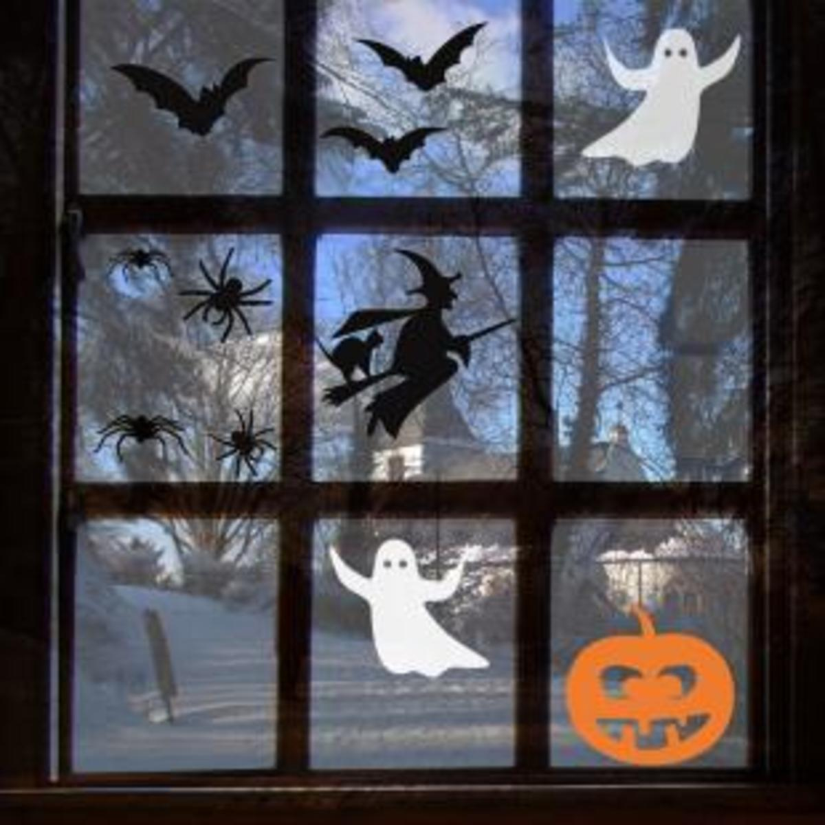 Halloween Window Decals, Stickers or Clings