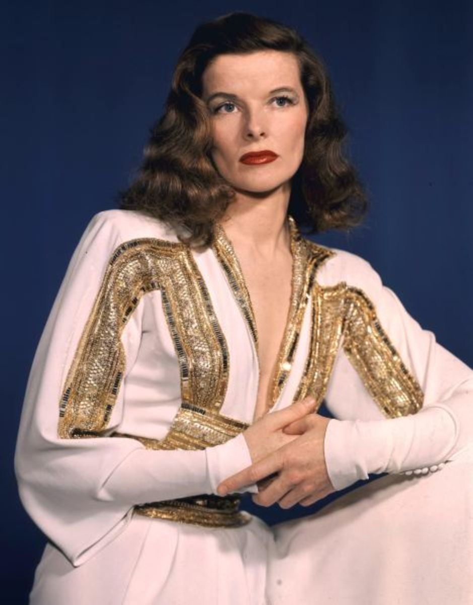 Women with square jaws: Katharine Hepburn