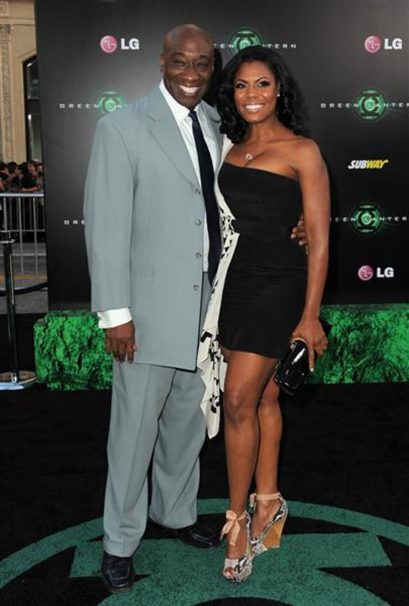 Omarosa and Michael Clarke Duncan (her Fiance')