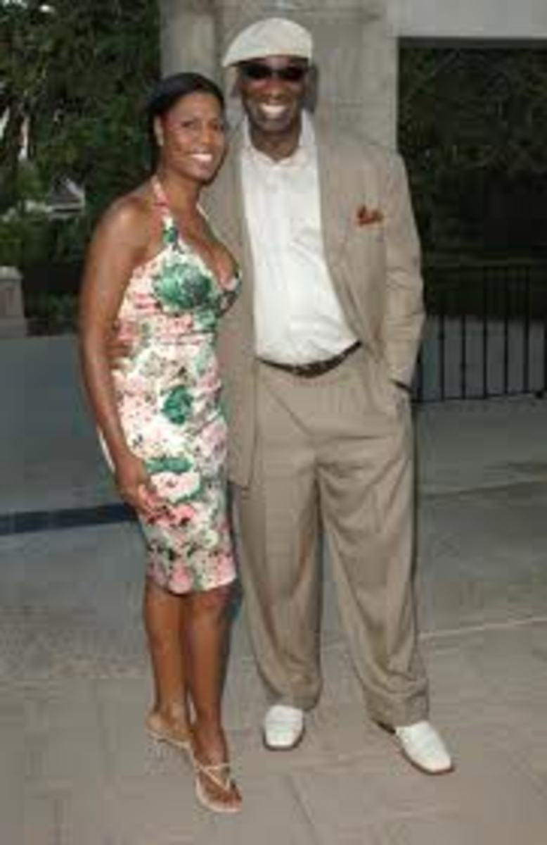 Omarosa Manigault and Michael Clarke Duncan