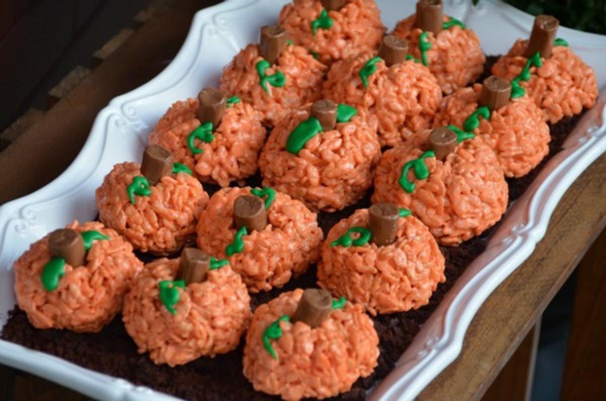 Pumpkin Rice Krispy Treats
