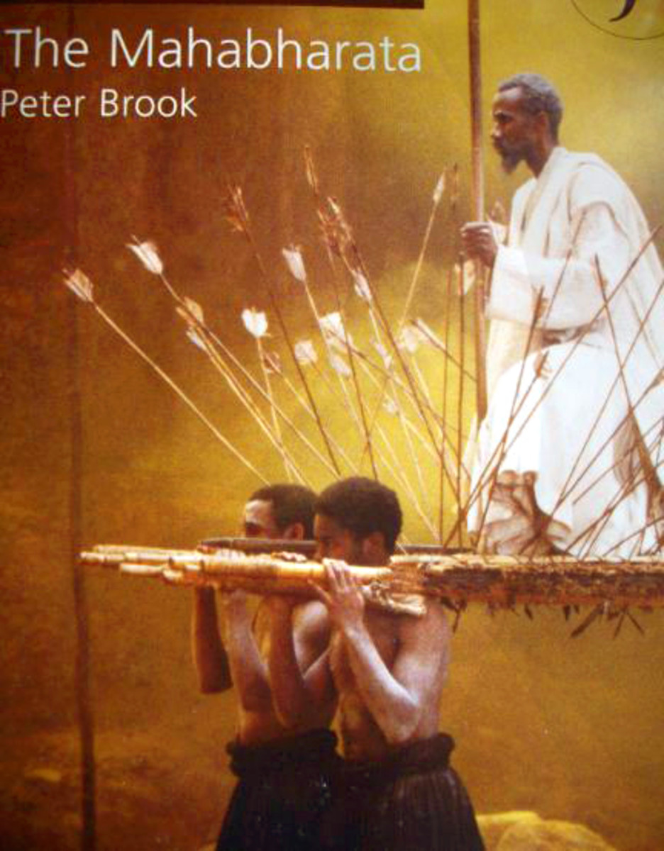Poster of Peter Brook's The Mahabharata, photographed by Vinaya