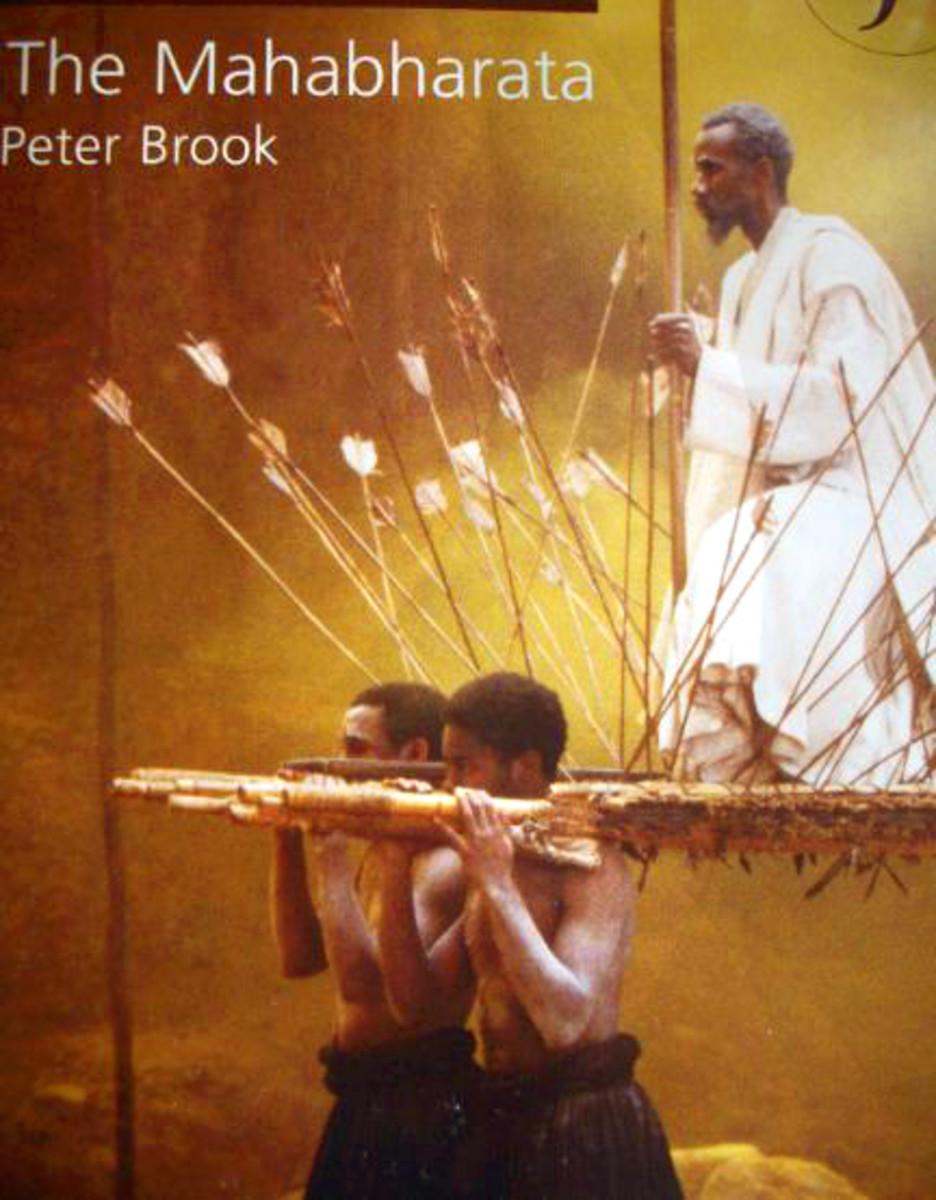 Poster of Peter Brook's The Mahabharata, photographed by Vinaya