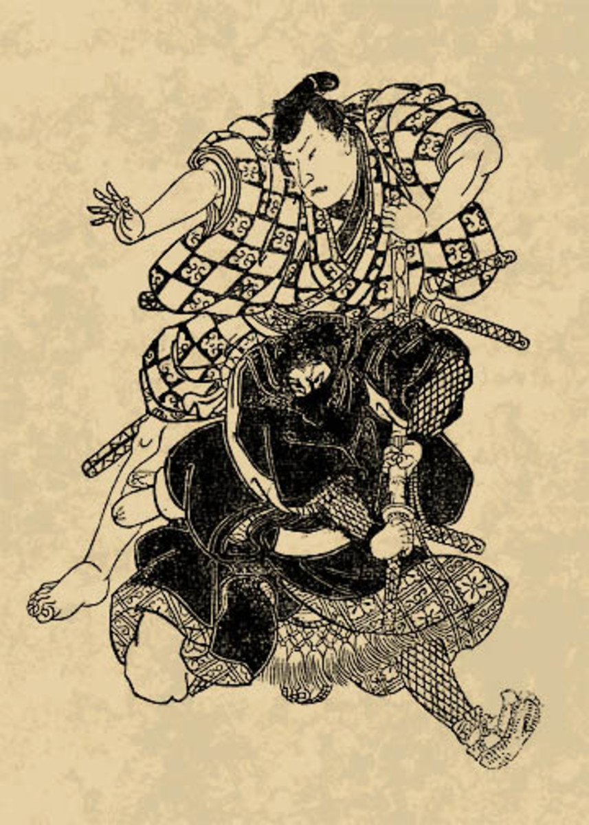 Woodblock Print of Historical Ninja