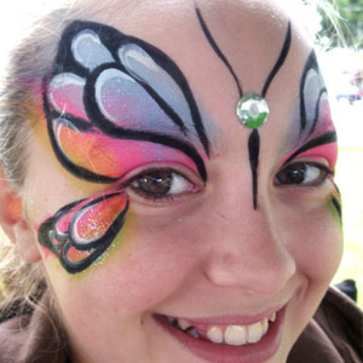 Face Painting Butterflies Tutorial