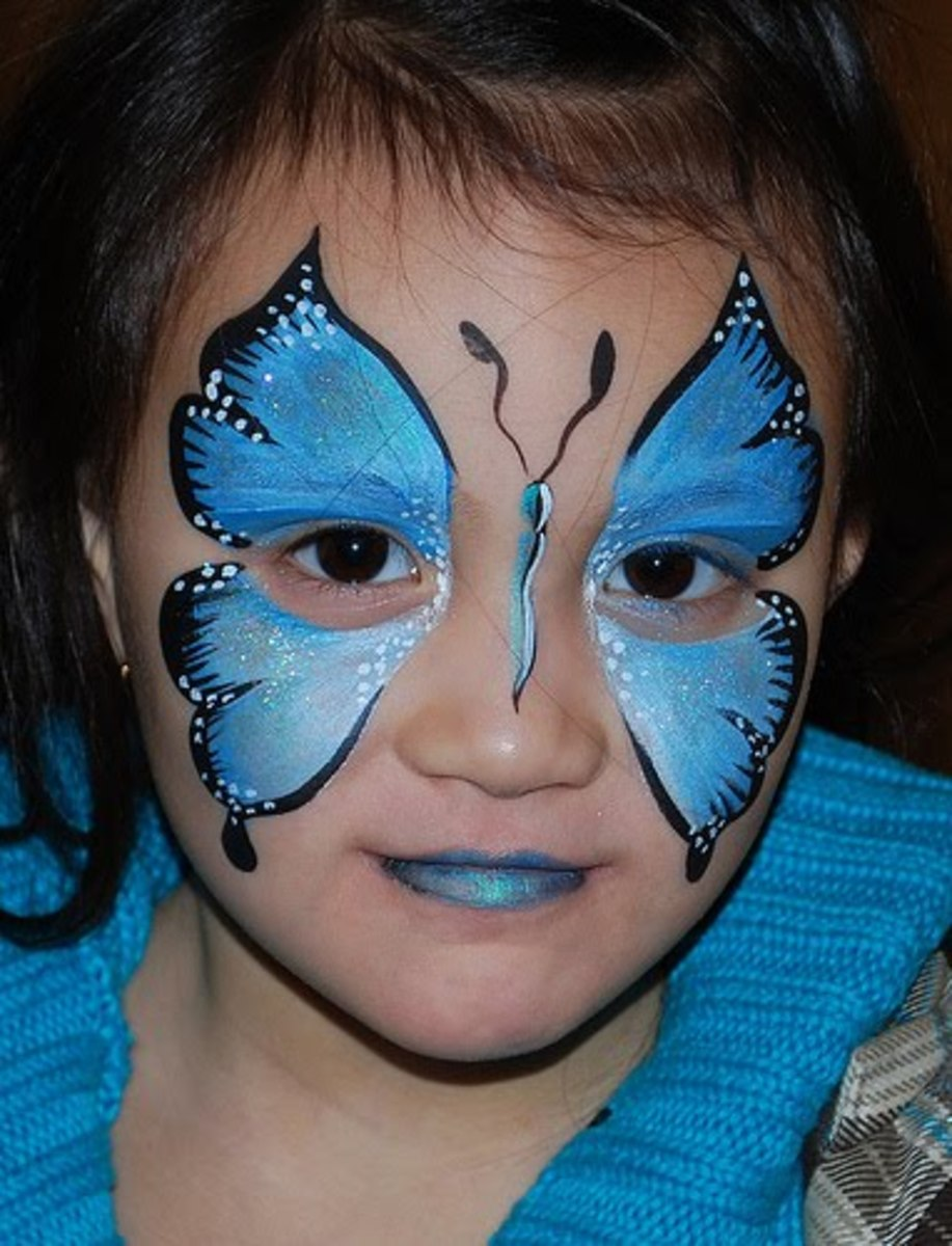 butterfly face painting for children designs tips and tutorials. Black Bedroom Furniture Sets. Home Design Ideas