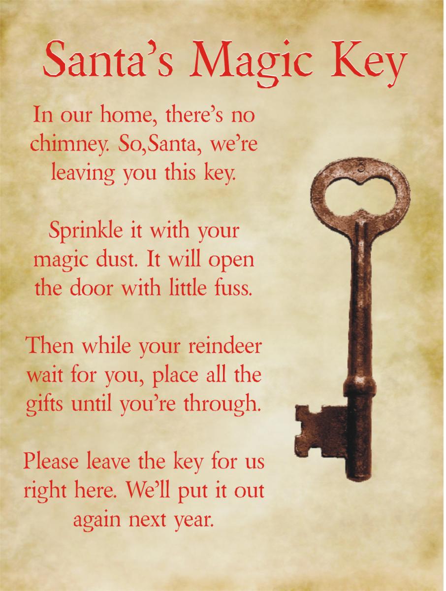 Source: Santa Magic Key Poem from Santa Letter Templates.com