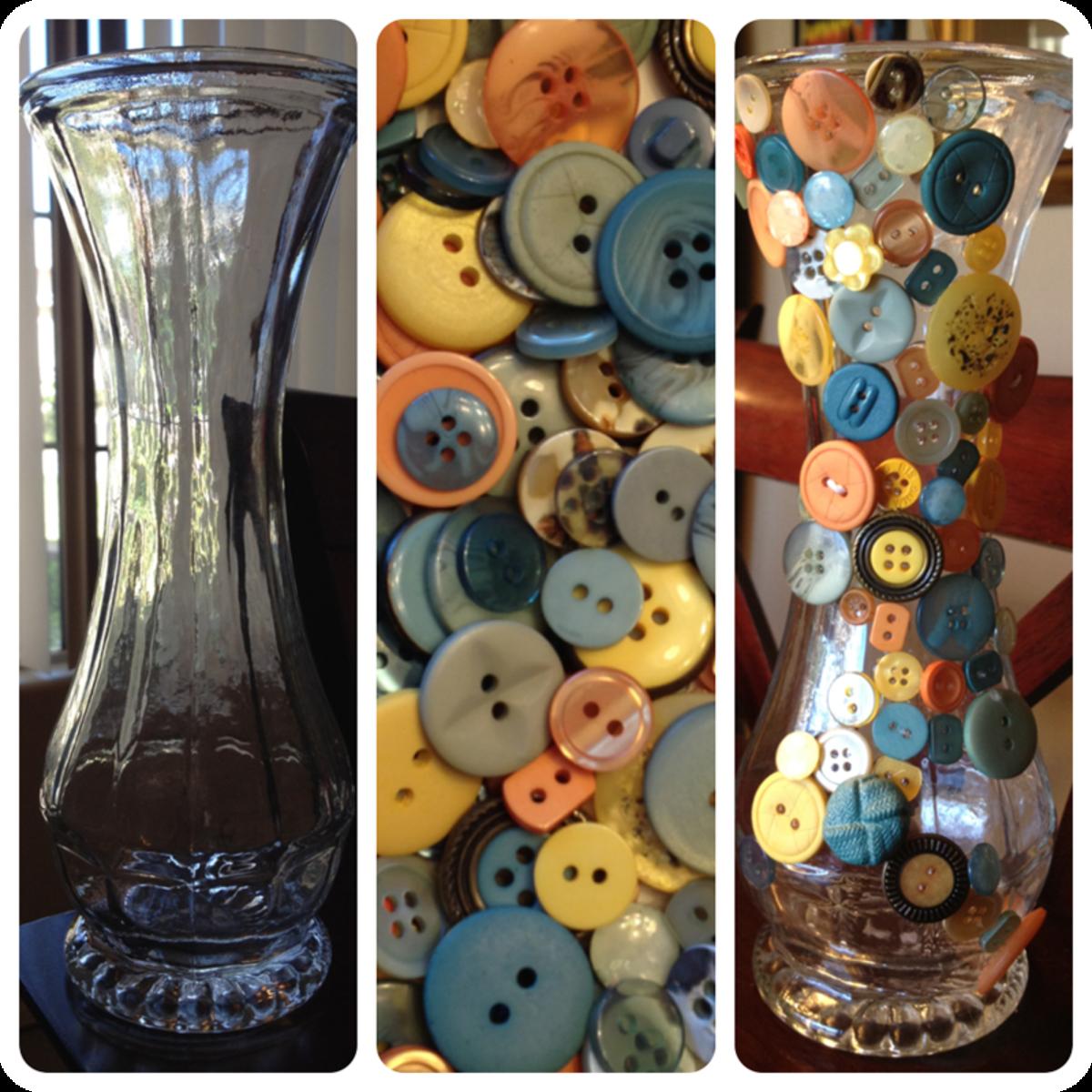 vase + buttons = buttonvase