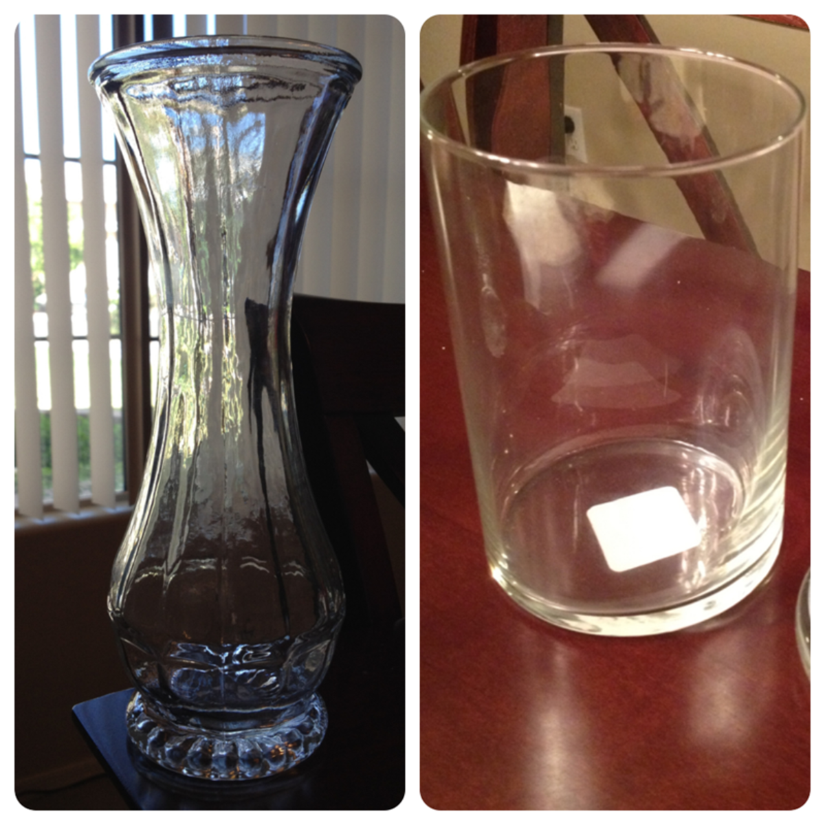 Vase from Goodwill and Libby jar from Michael's