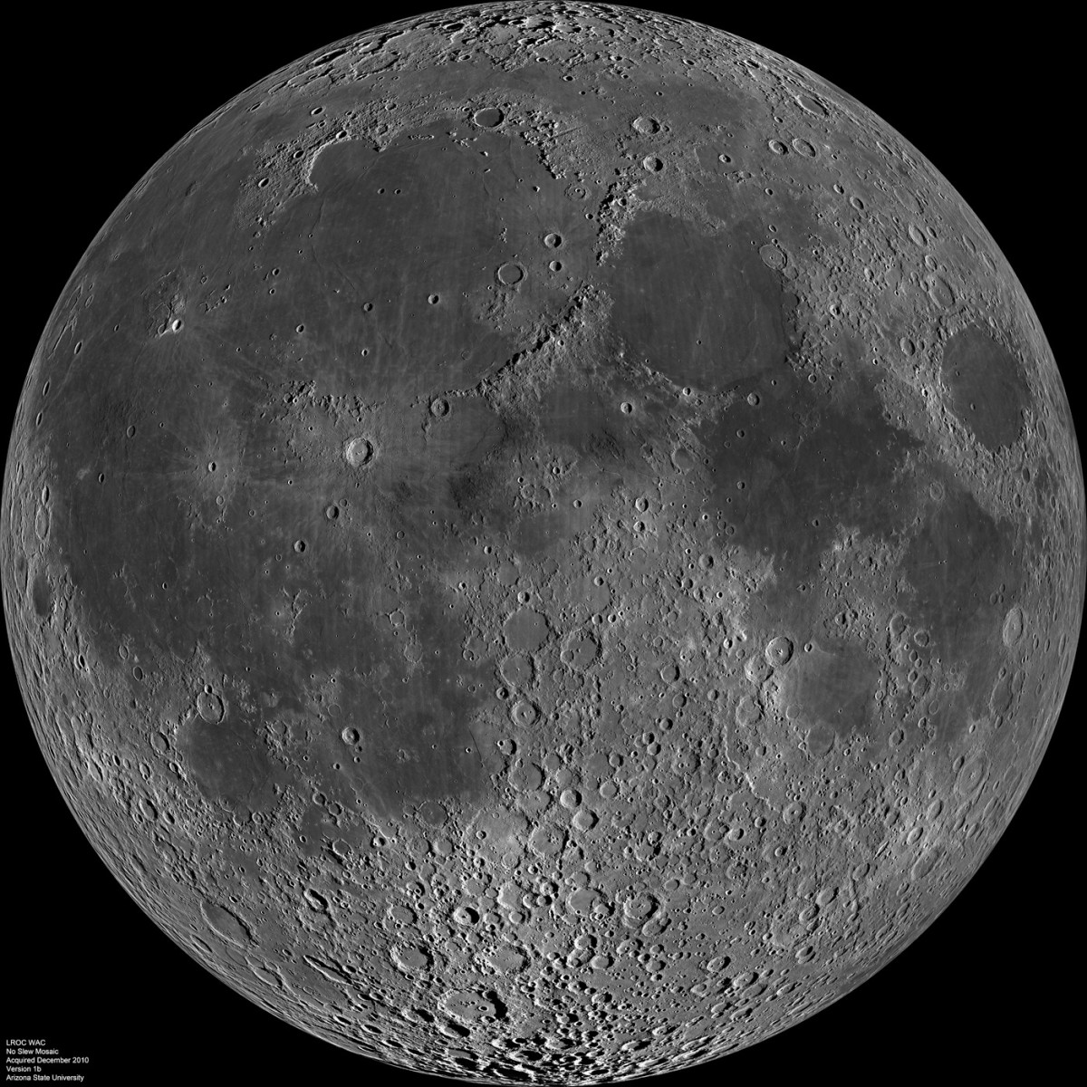 Near side of the moon