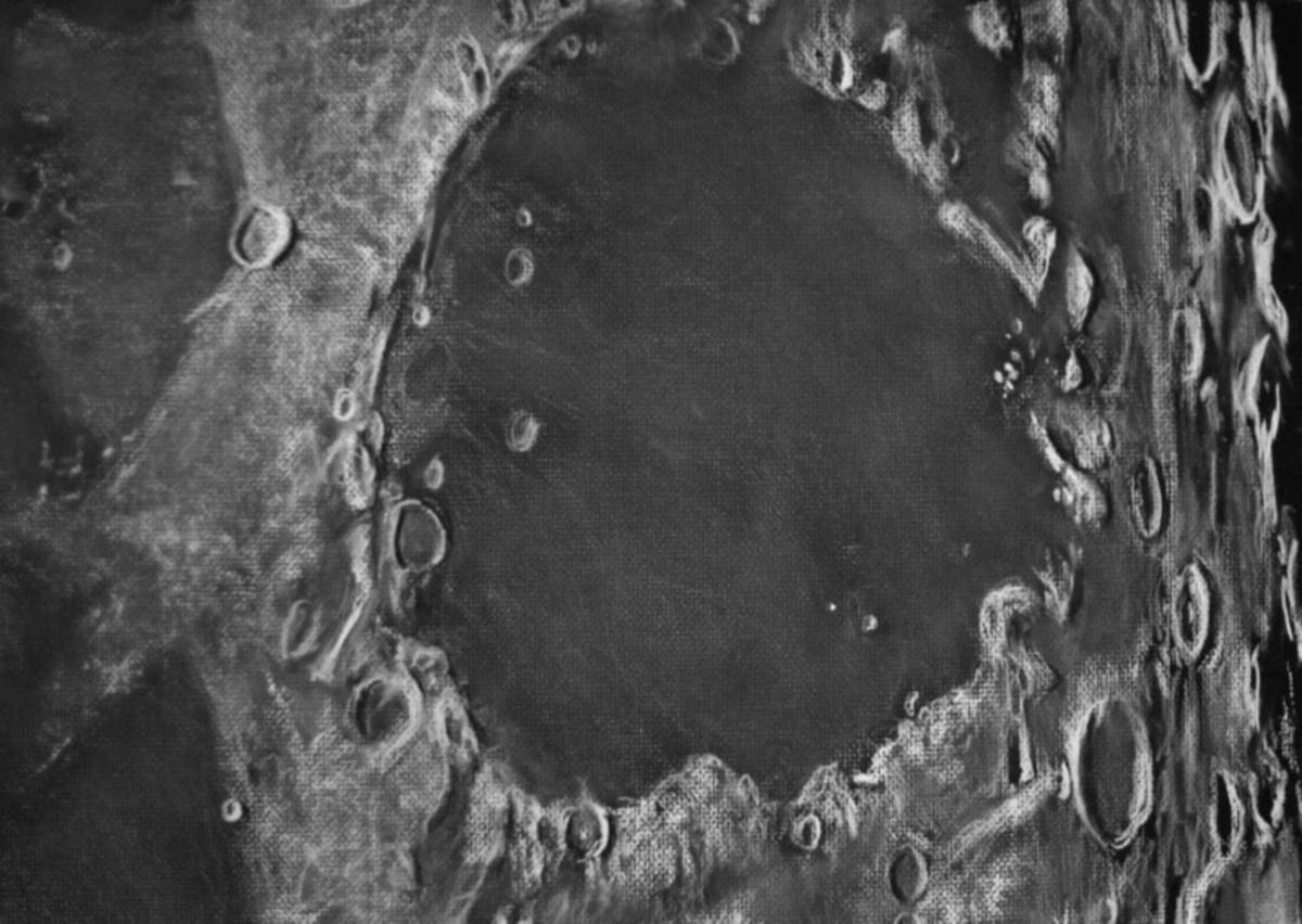 Maria-dark regions we see on the moon