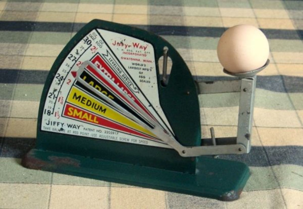 Jiffy vintage egg scale