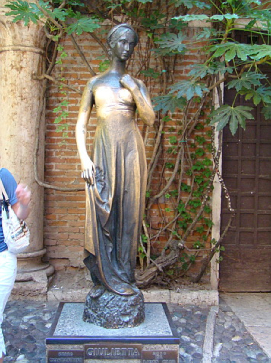 A Statue of Shakespeare's Juliet in Verona, Italy