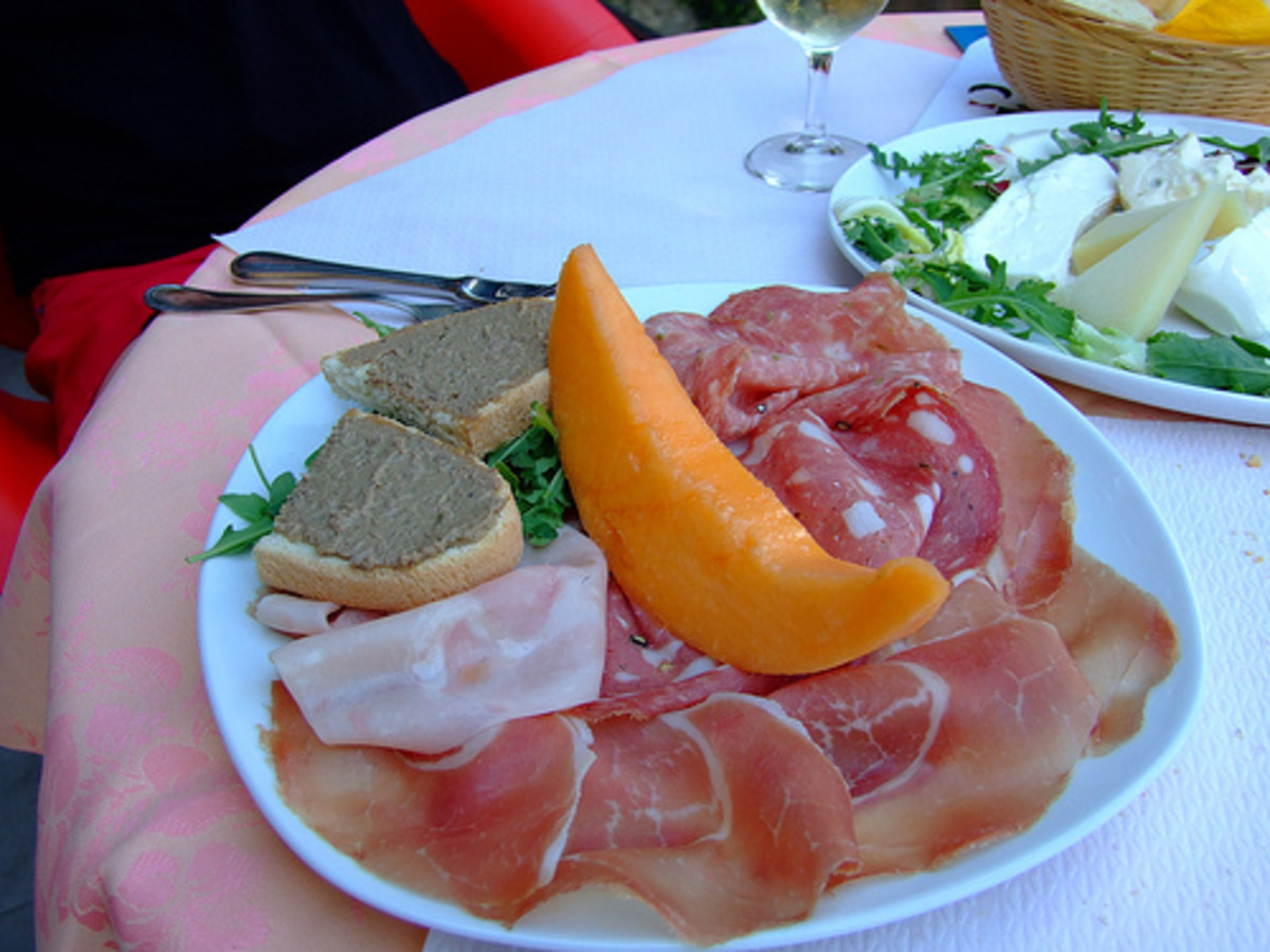 A beautiful antipasti plate