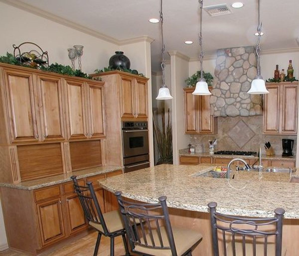 Appliance garage in a traditional kitchen.