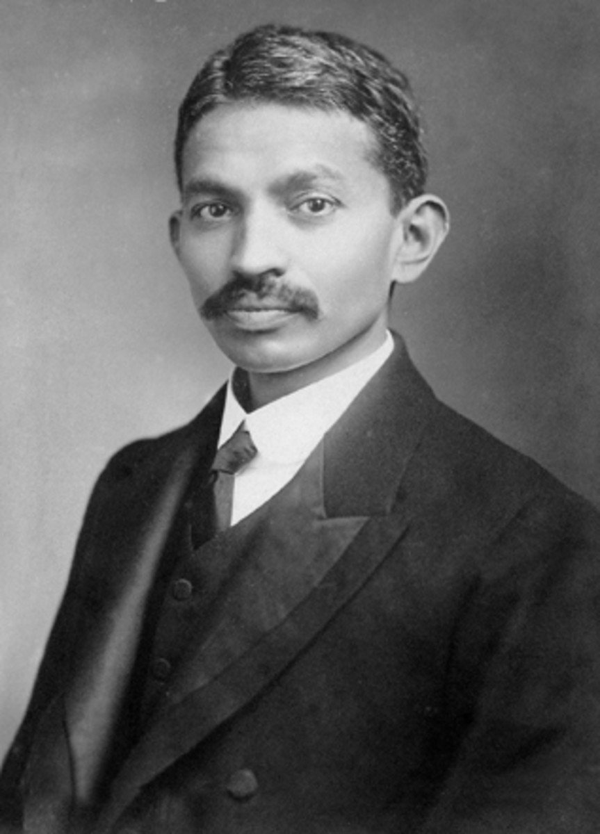 Gandhi in South Africa.