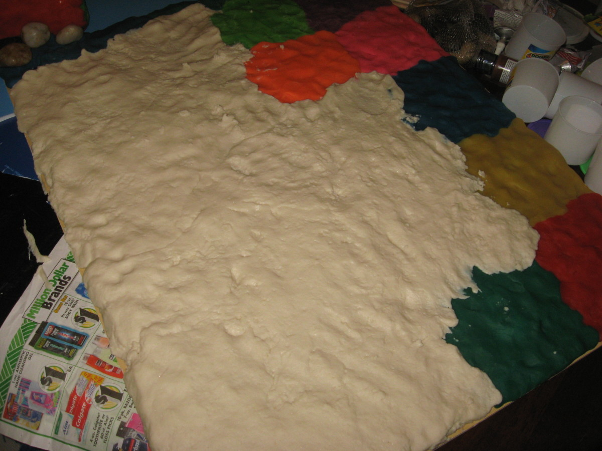 Cover the foamboard with craft dough.