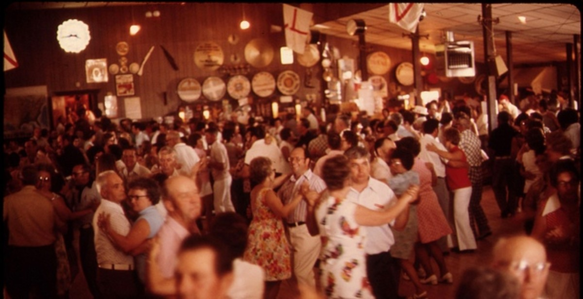 Polka dancing at the Gibbon Ballroom in Gibbon, Minnesota, Circa 1975