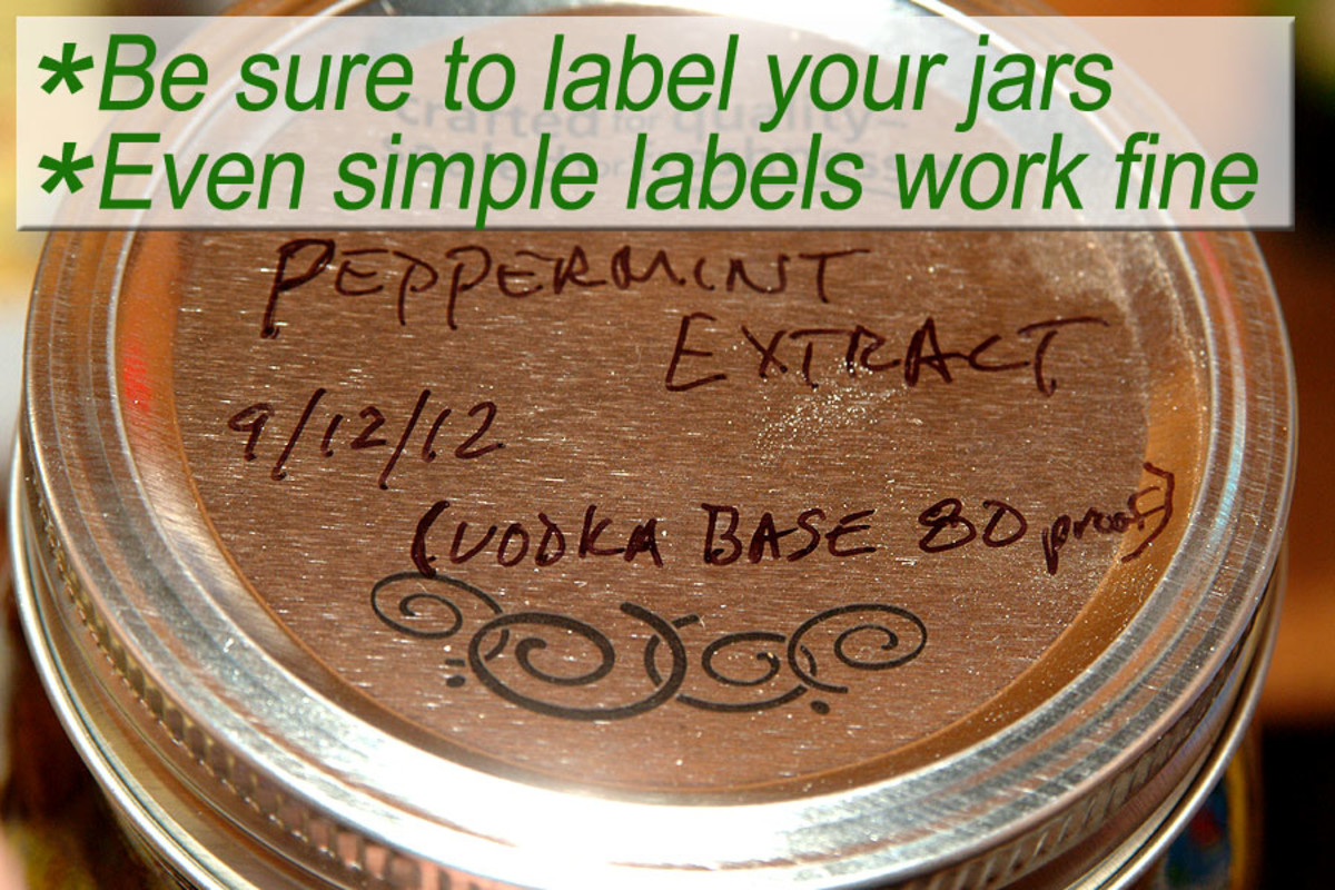 Labeling your jars with simple labels works just fine!