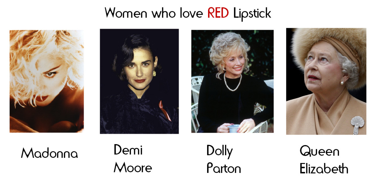 Mature women who wear red lipstick