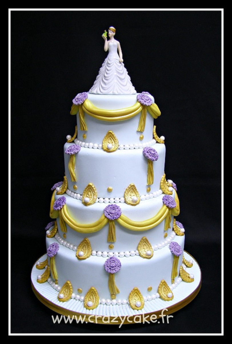 Princess and the frog wedding cake topper
