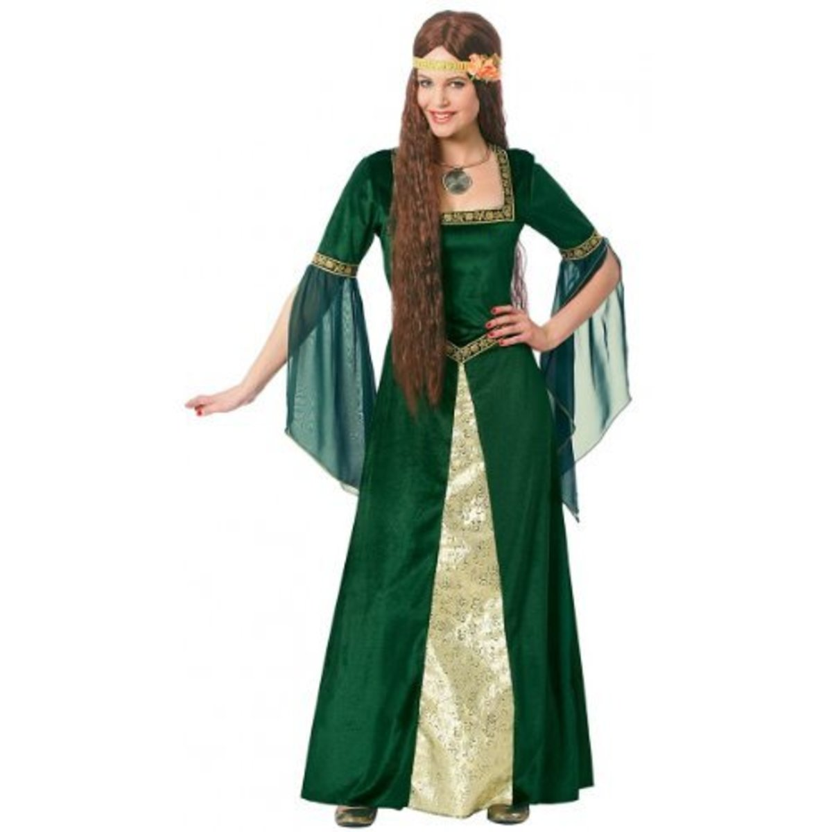 Green Renaissance Lady Adult Costume