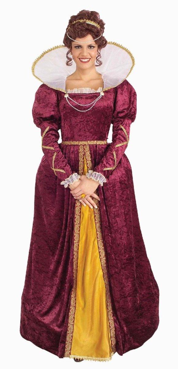 Forum Queen Elizabeth Dress and Crown Costume