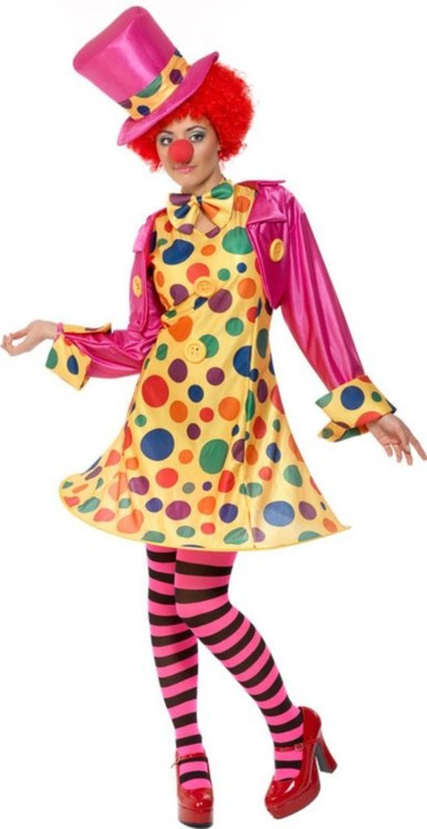 Smiffys Womens Circus Party Clown Plus Size Halloween Costume