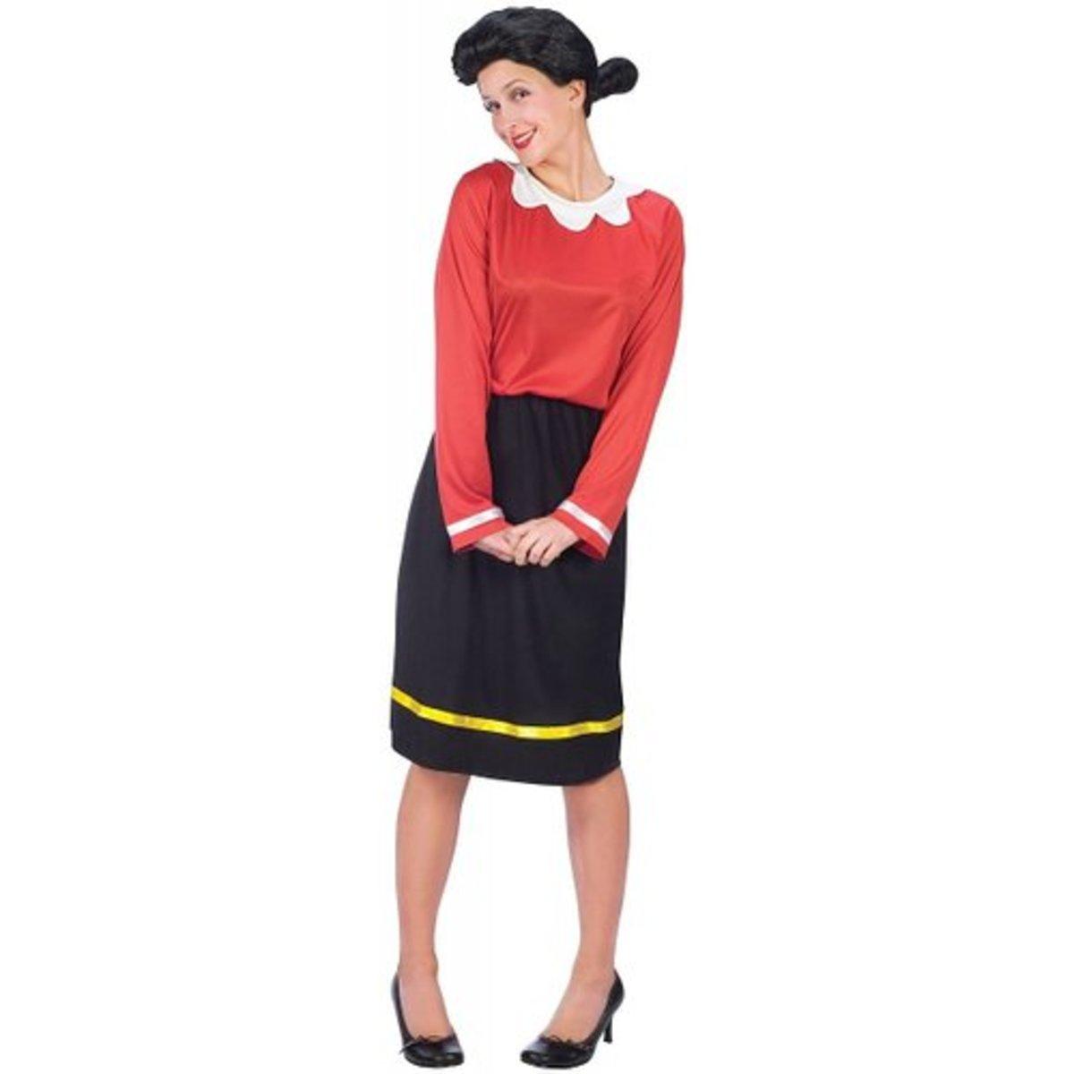 Fun World Costumes Women's Women's Olive Oyl Costume