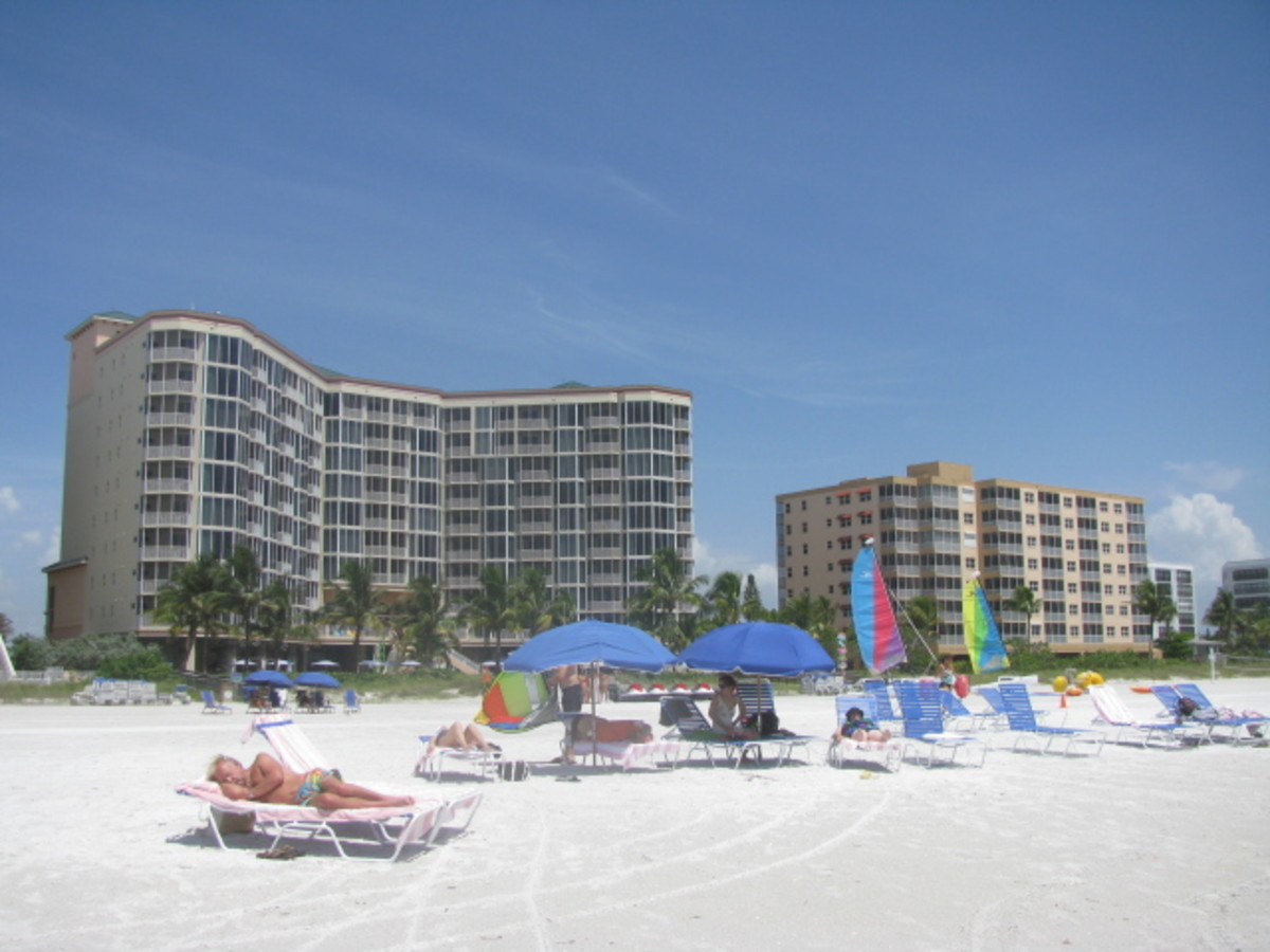 Looking Back At The Pink Shell Resort From The Beach