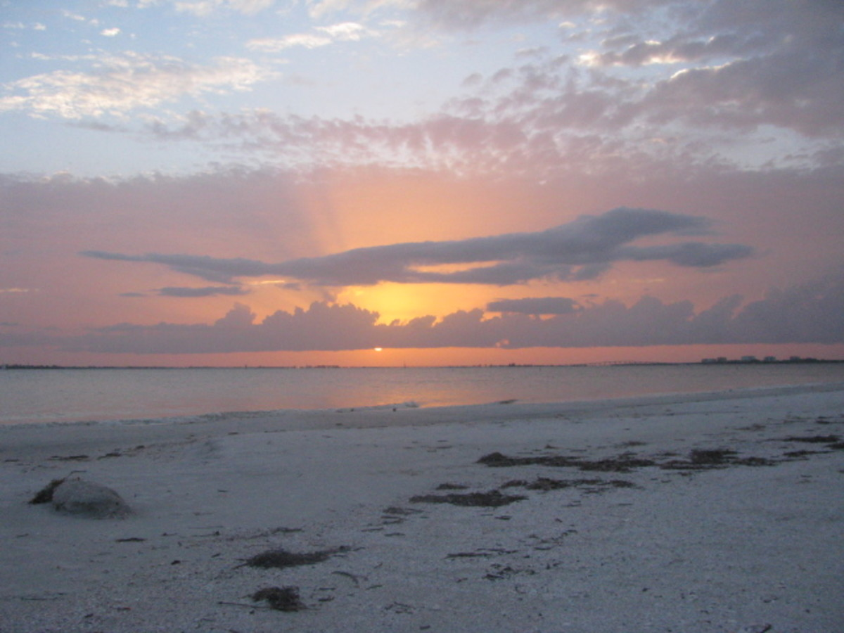 Fort Myers Beach Sunset.  Taken From Pink Shell Resort Beach