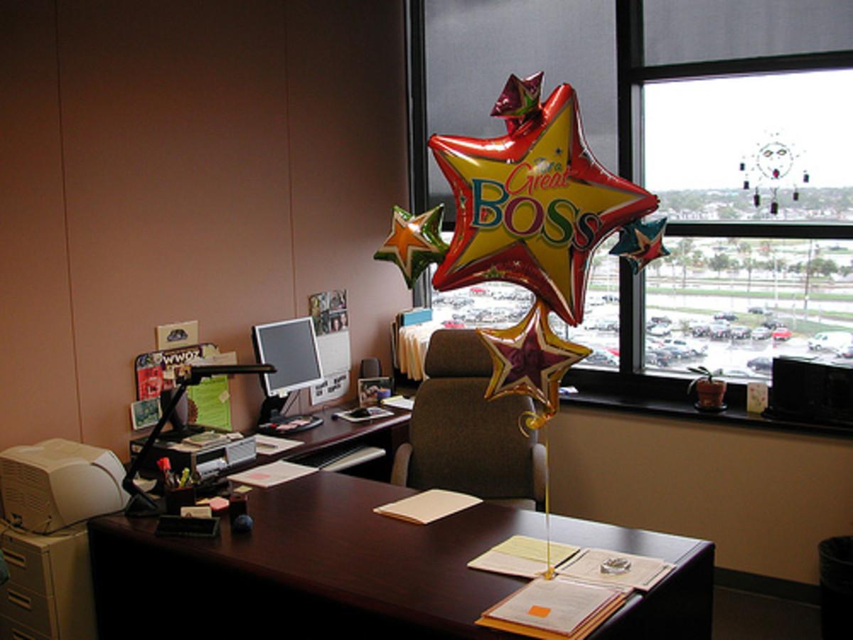 Boss's Day balloons