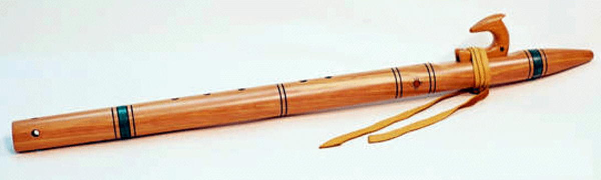Native American flute made by Rick Heller, 2001