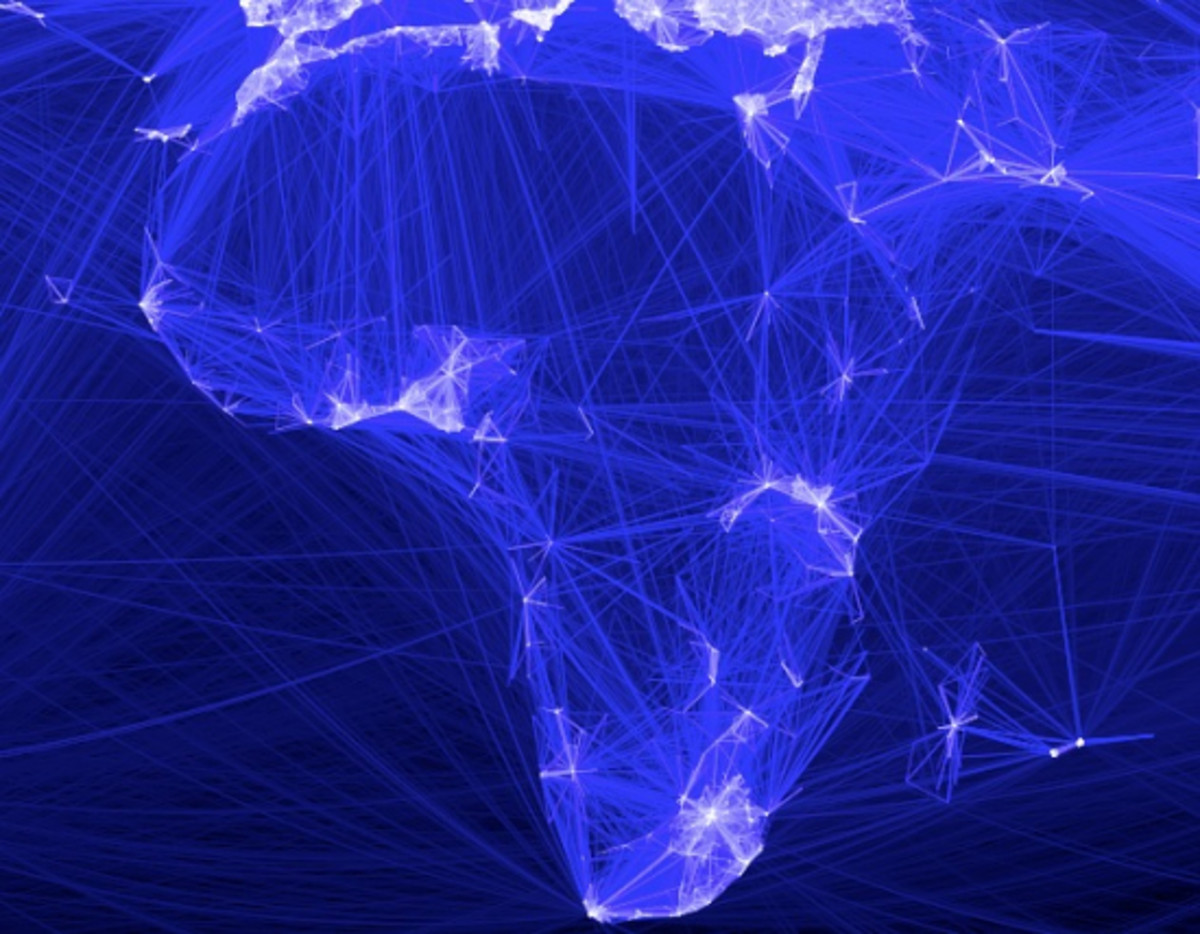 One can see Africa is still Dark or Africa Visualized By Facebook. Facebook as being adopted in Africa dar, and also see