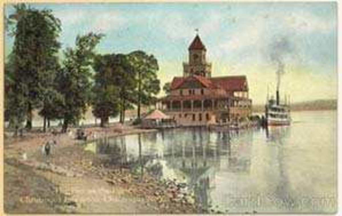 The Pier on the Point, Chautauqua Institution, Chautauqua, New York.  The Chautauqua Movement, was an adult summer education program, that combined a resort style vacation with spiritual and educational enlightenment in the late 1800's - 1920's